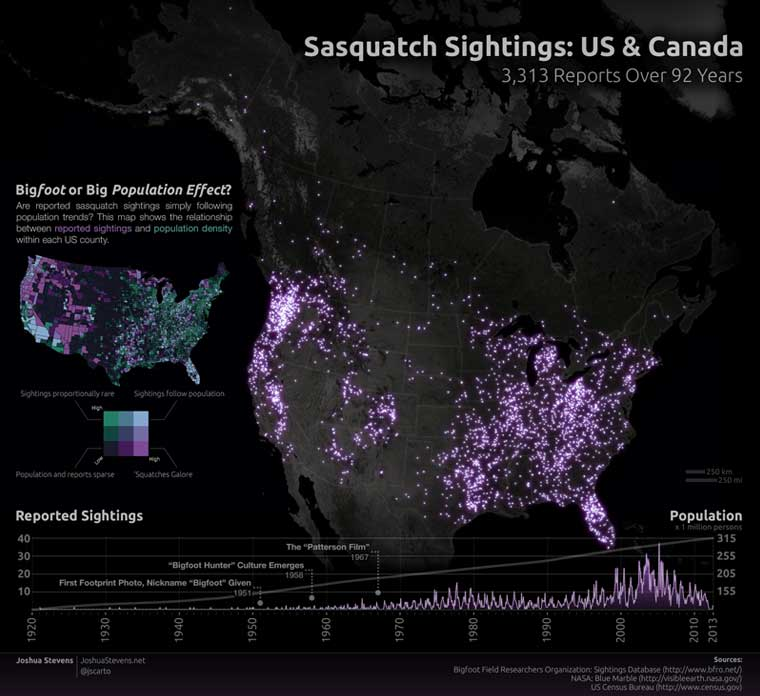 Bigfoot Sightings Map