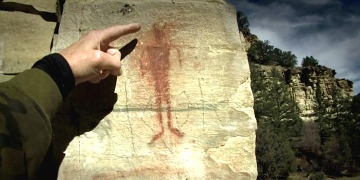 Survivorman Bigfoot Sasquatch cave paintings