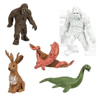 bigfoot toys yeti loch ness monster