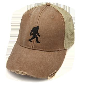 bigfoot hat distressed brown