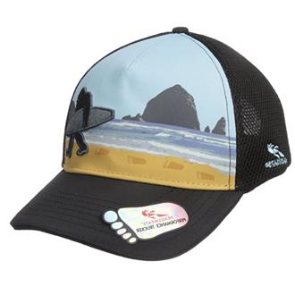bigfoot hat beach silhouette