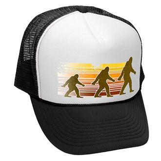 bigfoot hat retro 70s snapback trucker
