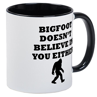 Bigfoot mugs silhouette