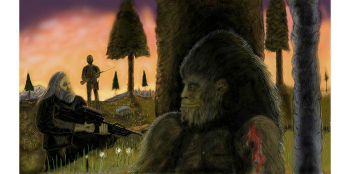 bigfoot docudrama concept art