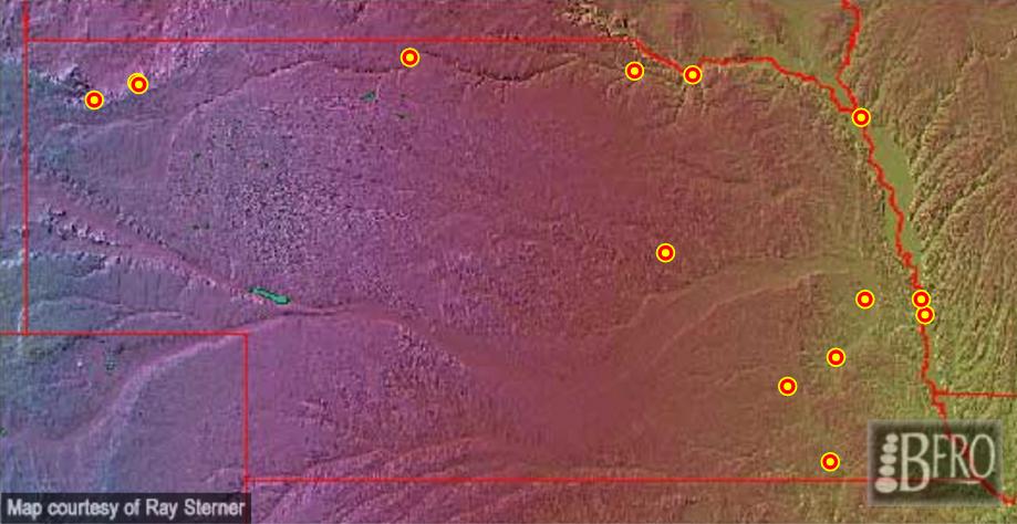 Nebraska Sasquatch sightings