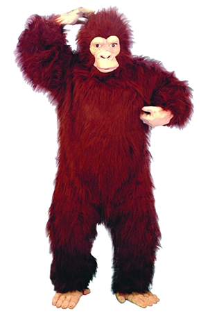 bigfoot costumes red colors