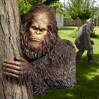 bigfoot statues yard
