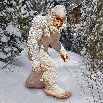 yeti sasquatch statue