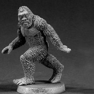 bigfoot statue grey