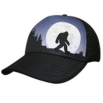 Bigfoot hat moon silhouette