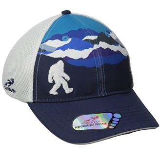 bigfoot hat mountains white silhouette trucker